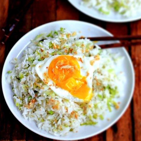 Recipe 薑粒炒飯