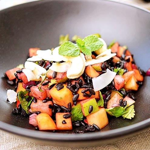 Recipe 黑米鮮果涼拌